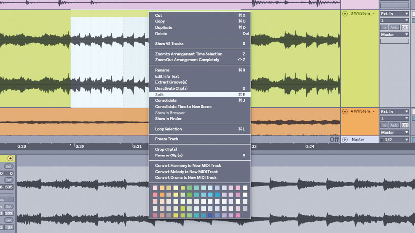 How to gather the right remixing parts from stem files