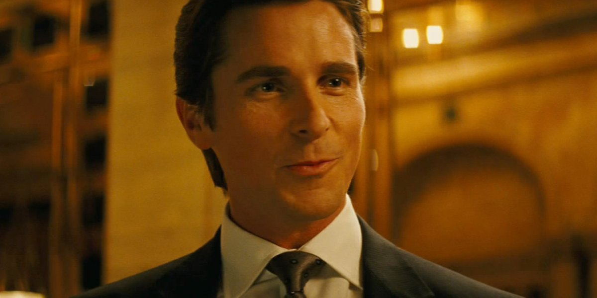 Christian Bale as Bruce Wayne in Batman Begins