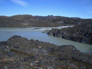 Mud volcanoes in Greenland.