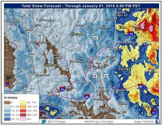 Las Vegas snow forecast