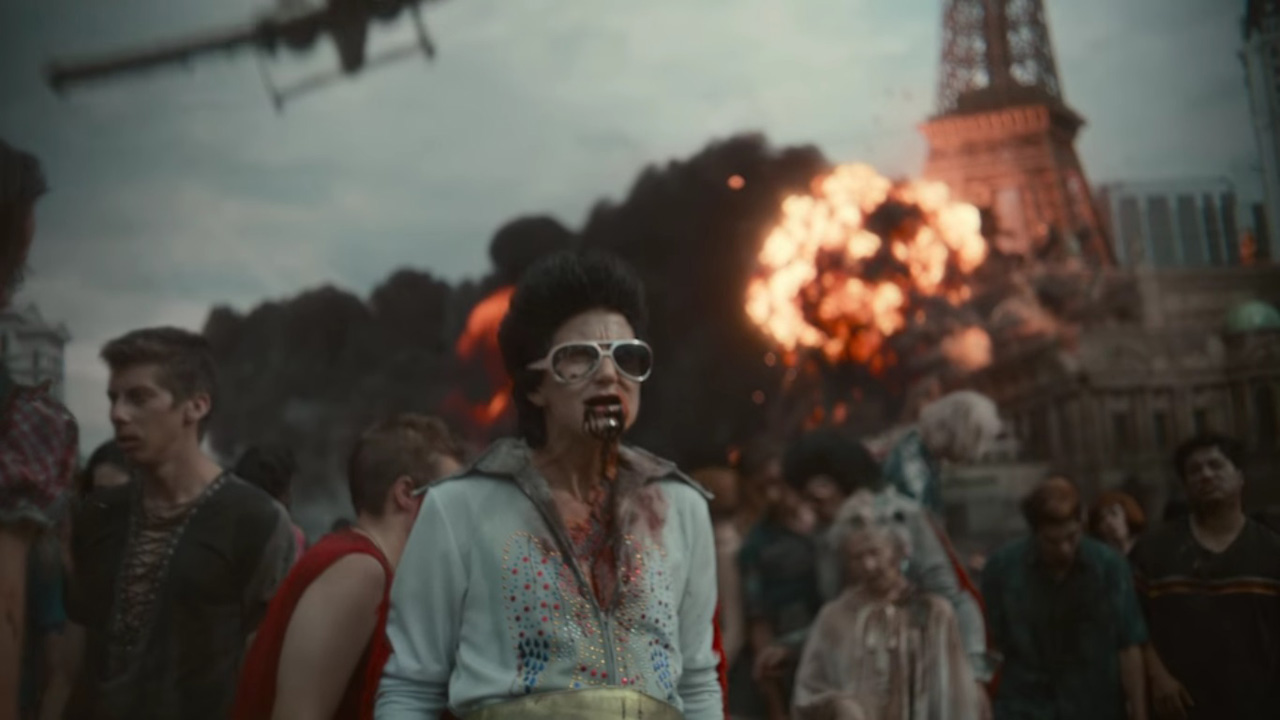 A screenshot of the opening cinematic in Netflix's Army of the Dead