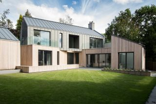 Zinc roof system for a contemporary home