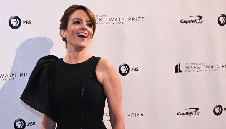 Actress/writer Tina Fey reacts on the red carpet for the 21st Annual Mark Twain Prize for American Humor at the Kennedy Center in Washington, D.C. on October 21, 2018.