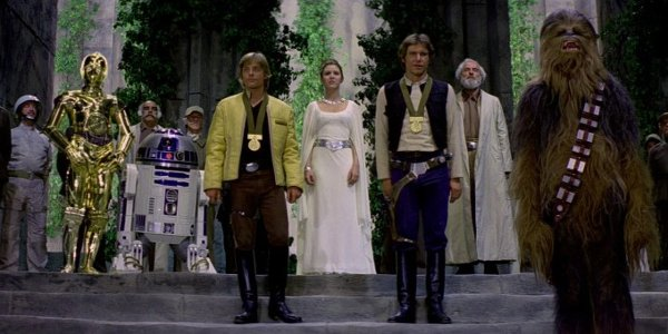 Themedal ceremony in Star Wars; A New Hope