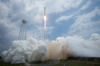 A photo from the Orbital Sciences launch.