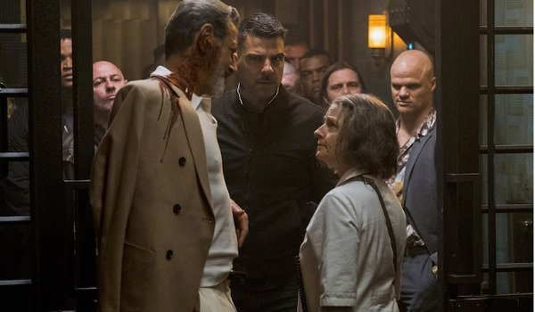 Hotel Artemis Jeff Goldblum Zachary Quinto Jodie Foster form a tense triangle