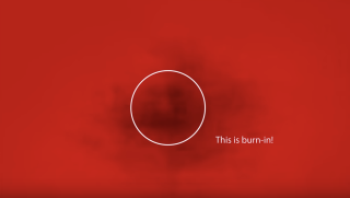 Samsung's OLED burn-in checker video on YouTube