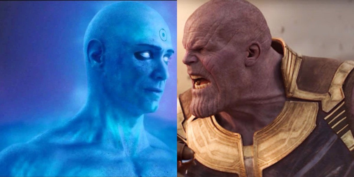Billy Crudup in Watchmen and Josh Brolin as Thanos