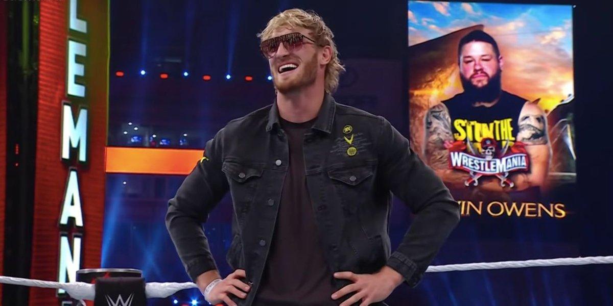 Logan Paul at WrestleMania 37