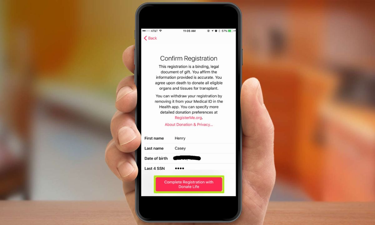 How to Register as an Organ Donor in iOS 10's Health App