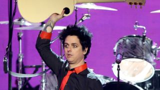 A picture of Green Day's Billie Joe Armstrong at the American Music Awards