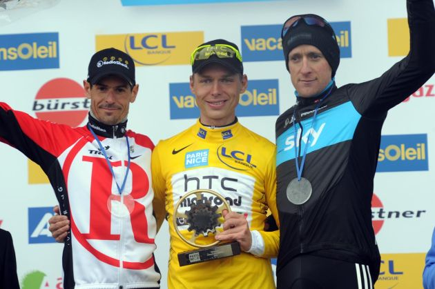 Tony Martin wins, Andreas Kloden second, Bradley Wiggins third overall, Paris-Nice 2011, stage eight