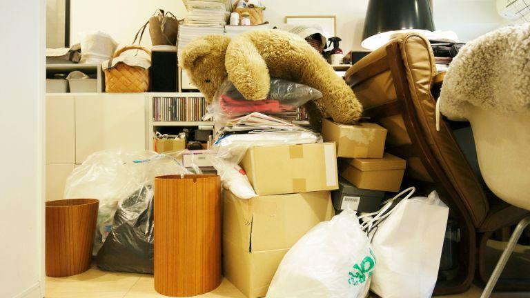decluttering the room