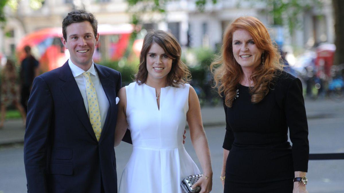 Fergie defends Princess Eugenie's husband Jack Brooksbank after awkward photos emerge