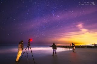 Orion Shines Over Stargazers at Wallis Sands State Park