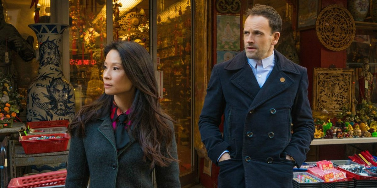 Lucy Liu and Johnny Lee Miller on Elementary