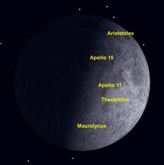 The first quarter phase of the moon in November 2011 is the perfect time to observe the lunar surface features in high relief, and check out some of the Apollo landing sites