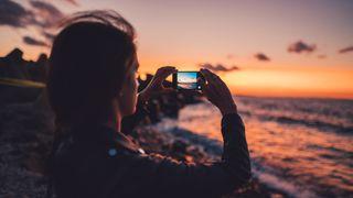 Fotografering av solnedgangen med mobilkamera