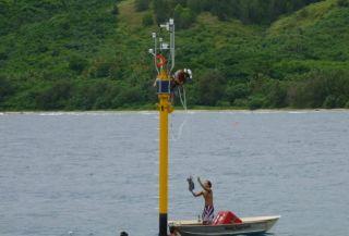 coral monitoring system, coral monitors, saipan coral reefs, coral bleaching, climate change, global warming, ocean acidification