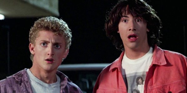Alex Winter and Keanu Reeves as Bill and Ted