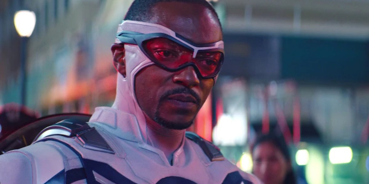 Anthony Mackie as Captain America on The Falcon and the Winter Soldier
