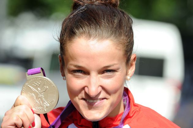 Lizzie Armitstead and silver medal, London 2012 Olympics, women's road race
