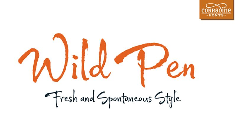 Font of the day: Wild Pen