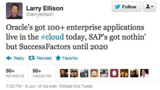 Larry Ellison's Tweet