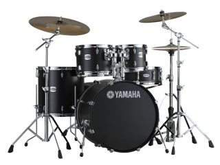 Yamaha's Stage Custom Birch kit in its new Matte Black finish.