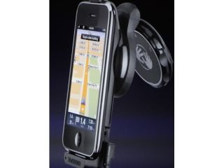 The TomTom optional dock for the iPhone