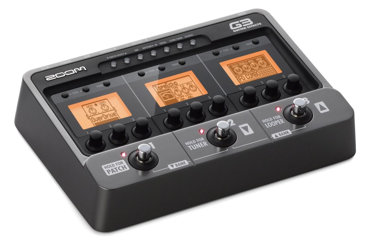 review zoom g3 guitar effects and amp simulator guitarworld. Black Bedroom Furniture Sets. Home Design Ideas