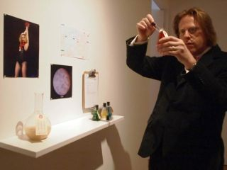 At San Francisco's Modernism gallery, conceptual artist Jonathon Keats looks over some of the components used to epigenetically clone Lady Gaga