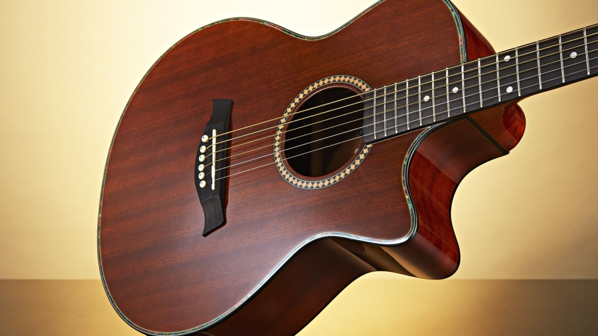 gear4music deluxe single cutaway electro acoustic guitar musicradar. Black Bedroom Furniture Sets. Home Design Ideas