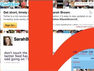 Sarah Brown - victim of a Twitter hack