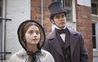 Jenna Coleman as Victoria and Sam Swainsbury and John Snow in Victoria