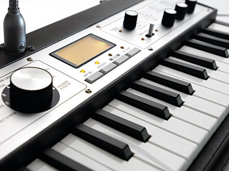 The microKorg XL looks something like a mini Fender Rhodes piano.