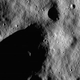 Rim of Shackleton Crater near the Lunar South Pole