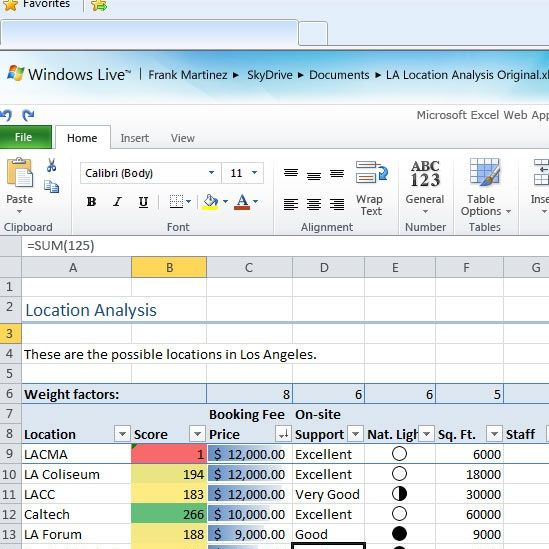 Using Excel 2010 To Manage Simple Projects