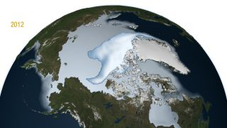 Multi-year Arctic ice in 2012