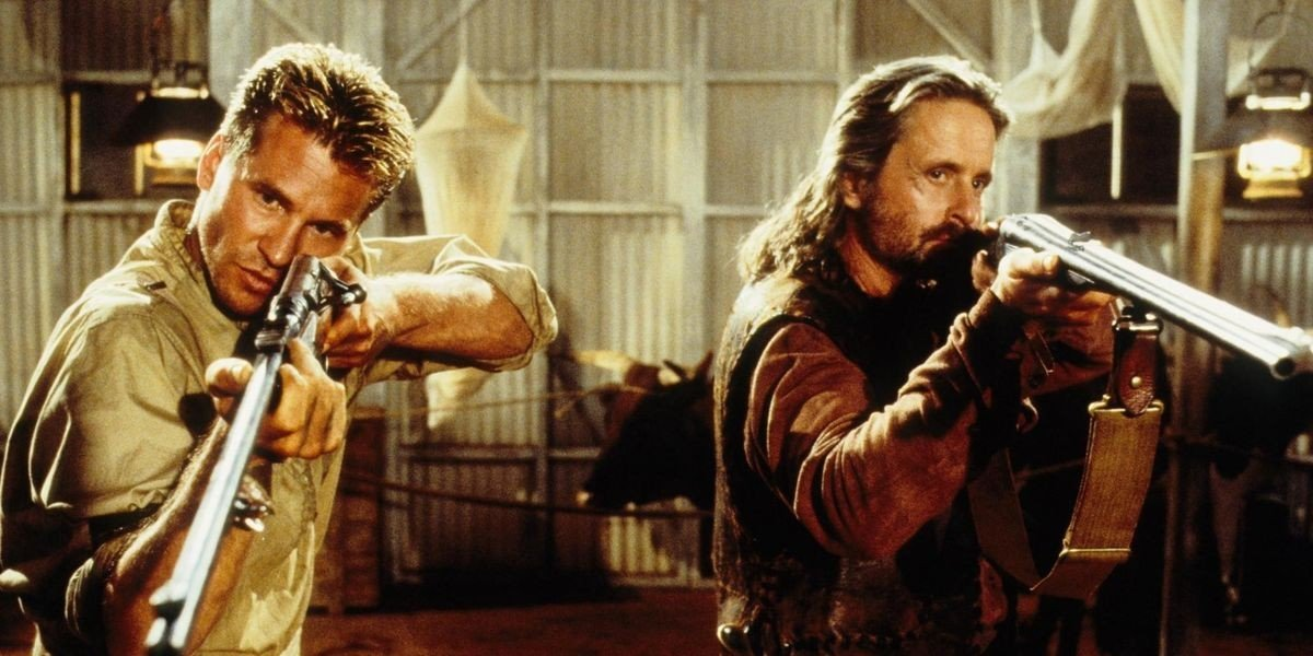 Val Kilmer and Michael Douglas in The Ghost and the Darkness