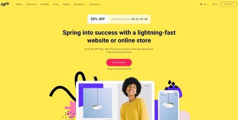 Zyro review - Zyro's homepage