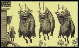 Post-It monster art is frighteningly good