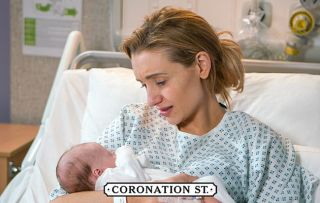 Corrie fans fall in love with baby Suzie and plead with Eva not to give her away as first pic is revealed