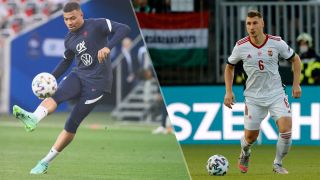 Hungary vs France live stream at Euro 2020 — Kylian Mbappe of France and Willi Orban of Hungary