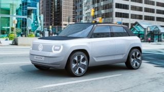 VW says the ID.LIFE concept driving down a street
