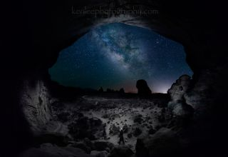 Milky Way from Double Arches by Lee