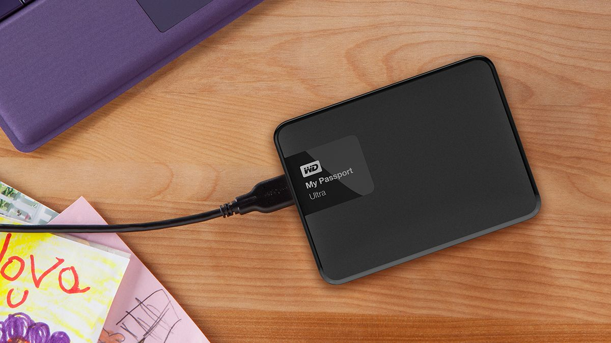 How to get files from an external hard drive