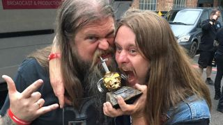 Enslaved with their Metal Hammer Golden God Award