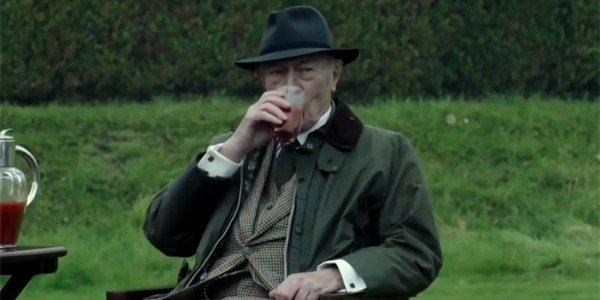 All The Money In The World Christopher Plummer having a drink