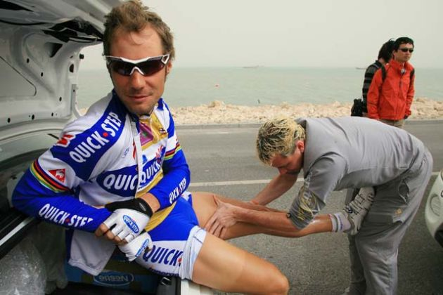 Tom Boonen gets a massage, stage 6